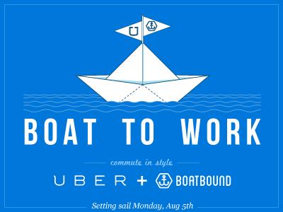 Uber + Boatbound boat origami uber boatbound