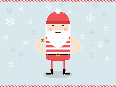 Sailor Santa illustration santa sailor tattoo christmas