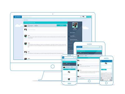 Boatbound conversation page conversation messages responsive mobile