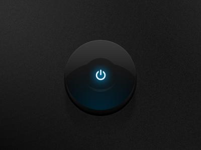 Dark ui round button