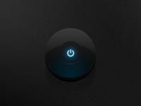 PSD | Dark Glossy Power Button