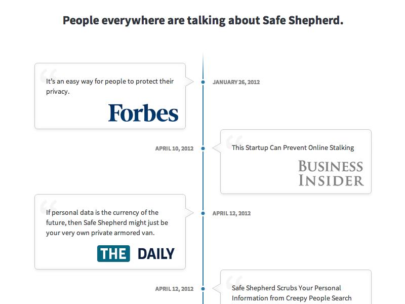 Safe Shepherd Timeline timeline comments testimonials press speech bubble