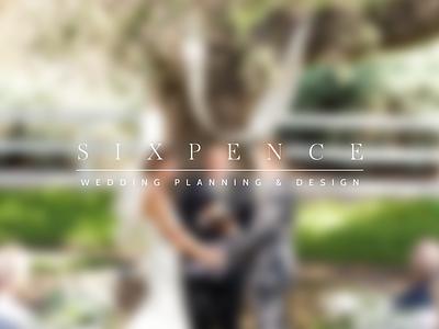 Sixpence Type Logo logo typography wedding classy bride