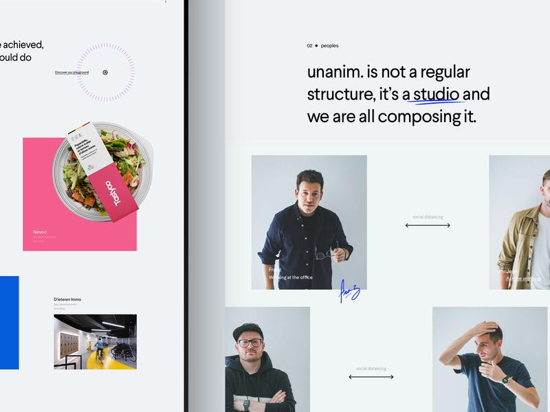 unanim.studio is live. ui branding clean portfolio website studio agency creative webdesign