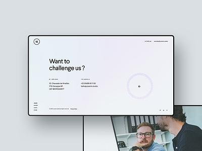 unanim.studio is live. website ux agency studio webdesign design footer