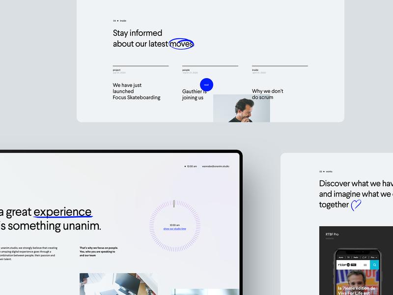 unanim.studio is live. agency studio website webdesign