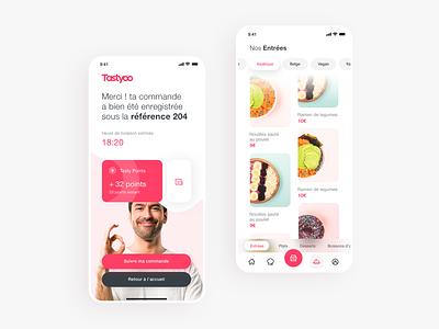 Tastyoo, a new foodtech brand menu application ui app design scrolling food app food app mobile