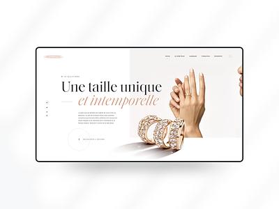 B J X - Lost Project clean header minimal luxurious luxury jewelry jewels clean design webdesign