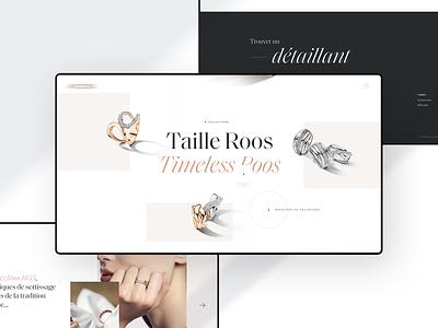 B J X - Lost Project minimal clean design jewlery jewels fullscreen hover effect webdesign