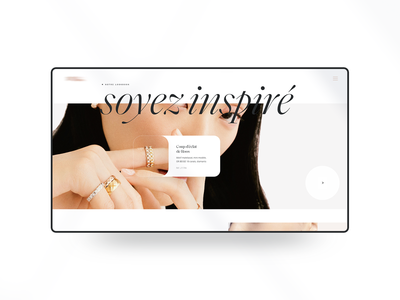 B J X - Lost Project luxury jewelry jewel hover state hover effect lookbook webdesign