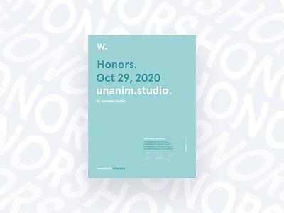 Honorable Mention for unanim.studio website 🤘 honorable mention motion uiux studio mention award website digital awards awwwards