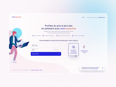 monmazout.be clean blur shadow shape form ui ux website webdesign
