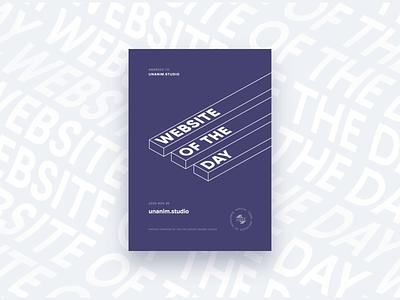 unanim.studio website is SOTD on CSSDA ✌️ webdesign proud site of the day cssda award