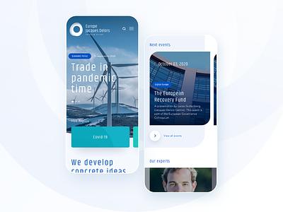 Europe Jacques Delors website is live. clean mobile card topic topics prismic design website ui webdesign