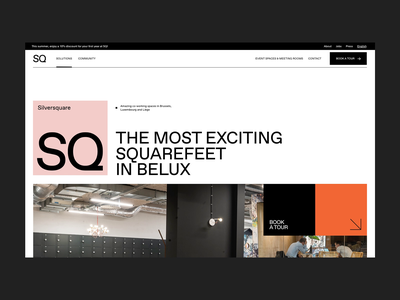Silversquare.eu typography whitespace grid clean minimal map ui ux homepage webdesign