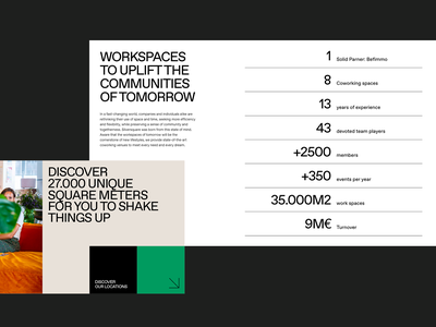 Silversquare.eu coworking webdesign block layout grid clean whitespace typography