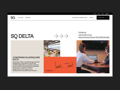 Silversquare.eu color whitespace grid brutalism typography video clean webdesign