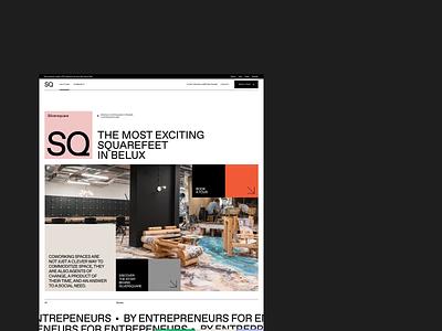 Silversquare.eu designer minimal simple coworking color grid box clean whitespace webdesign design