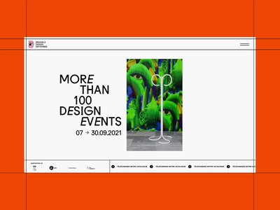 Brussels Design September is online photography artist exhibition gallery typography website clean grid brutalism ux nuxt webdesign
