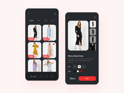 Clothing App ui design uiux clothing app cart dress shop app shop dresses style minimal application app fashion clothing first concept ui design art art design