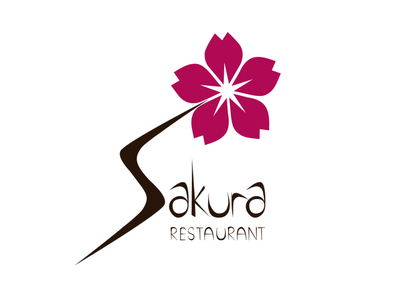 Logo Design - Sakura Restaurant restaurant portfolio design logo collection graphic  design graphicdesign graphic illustration design art art design logo logodesign