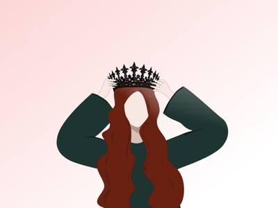The Girl With The Crown black beauty graphic design graphic crown girl illustration girl girl character first character design character design art art design
