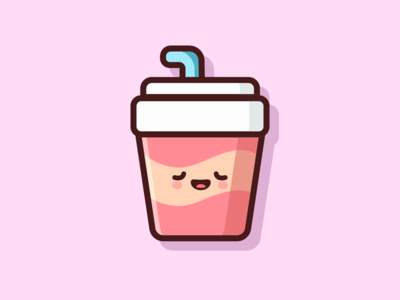Paper Cup Soft Drink Illustration