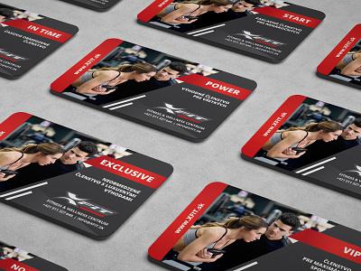 Cards - XFIT flat design creative gym fitness card cards