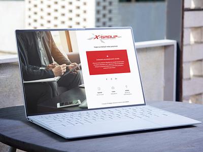 Web - x-group.sk ux ui flat design creative company branding company website design web design webdesign website web