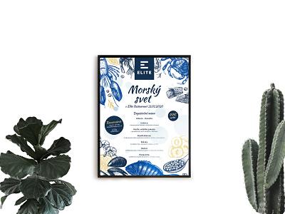 Flyer - ELITE flat creative design restaurant food see flyer design flyer