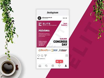 Instagram post - ELITE Congress day brand identity brand design branding flat design day congress post instagram post instagram