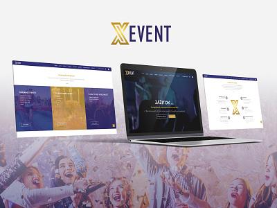 Web - xevent.sk ux ui flat event creative design website design web design webdesign website web