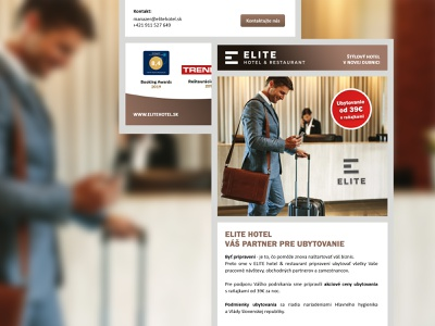 Newsletter - ELITE Hotel & Restaurant typography ux ui flat creative design partner restaurant hotel newsletter