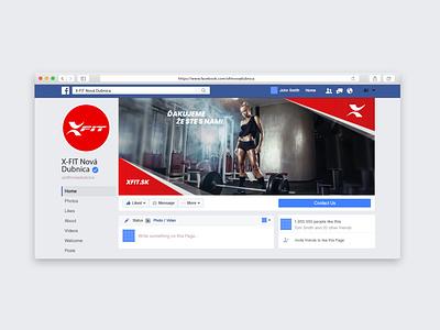 Facebook cover - XFIT Fitness & wellness club clever ux ui gym creative design club wellness fitness cover design cover