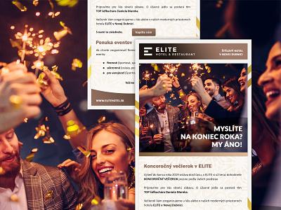 Newsletter - ELITE Hotel & Restaurant ux ui creative design restaurant hotel newsletter design newsletter