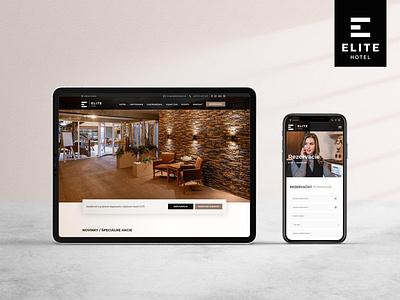 Web - elitehotel.sk white hotel ui ux branding flat creative design website design web design webdesign website web