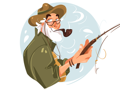 Fisherman character illustration character fisherman character design characterdesign illustration art illustration