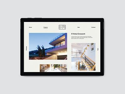 Architects website design minimal minimalist modern website web design architecture architects user interface ui