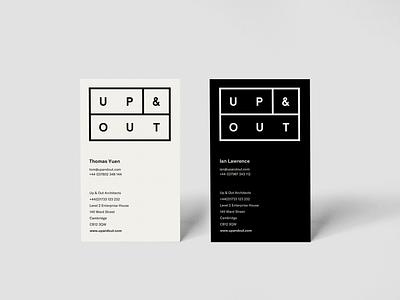Architects business cards peterborough build line art logo design architecture business cards architect
