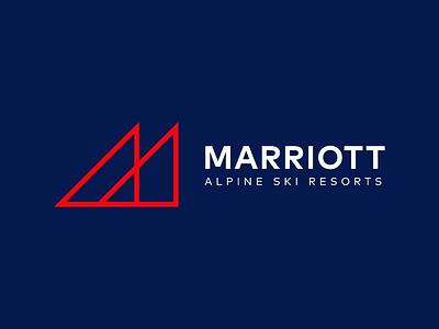 Marriott Alpine Ski Resorts logo logo designer logo design concept triangle logo minimal logo design logo design minimal logo modern logo alpine alps hotel logo ski logo ski resort logo