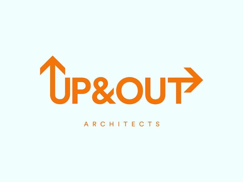 UP&OUT Architects architecture orange brand identity logo architect