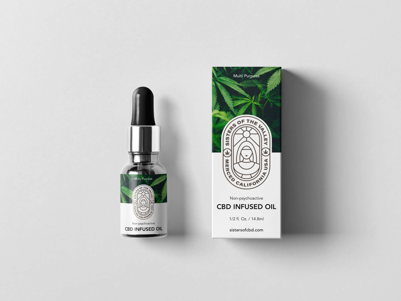 Sisters of the valley packaging design weed cbd branding logo design packaging