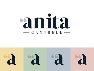 Anita Campbell Branding psychotherapist typography counsellor talking speech bubbles identity logomark psychotherapy branding brand branding