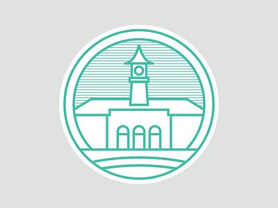 Peterborough landmarks 02/09: the Lido logomark branding stickers the lido logo landmarks city logo peterborough