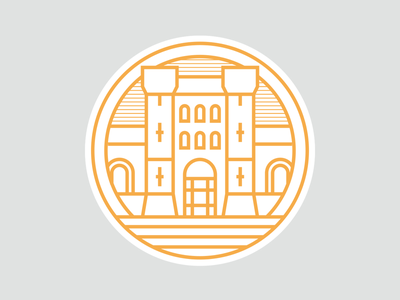 Peterborough landmarks project 03/09: The Sessions House. logo series branding brand identity sessions house peterborough city circle icons iconography brand design icon design logo design city logo