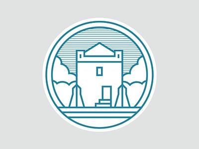 Peterborough landmarks 04/09: Longthorpe Tower architecture logo designer city icons iconography longthorpe tower peterborough logo design logo icon