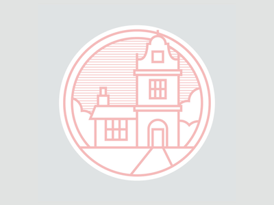 Peterborough landmarks 05/09: Lynch Lodge. logo design logo designer lynch lodge peterborough iconography line icons identity logo logos landmarks peterborough