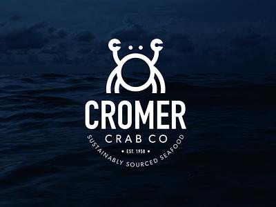Cromer Crab Company - Logo Brand Identity brand designer seafood logo seafood branding seafood logomark icon logo design concept logo design logo a day identity design cromer logo design cromer crab cromer crab company cromer branding crab logo cleverlogo branding brand design