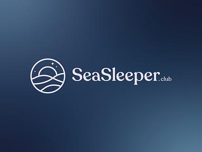 SeaSleeper app logo app logo design iconography waves sleep moon ocean logo sea logo brand identity logo