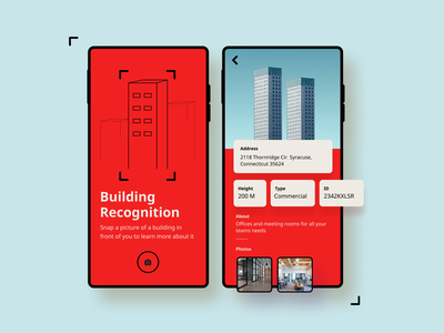 Building Recognition App - PropTech buliding uxui data minimal computer vision customer experience real estate
